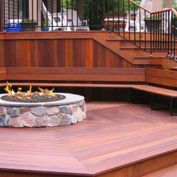 Prosper, Texas Outdoor Living Space Wooden Deck