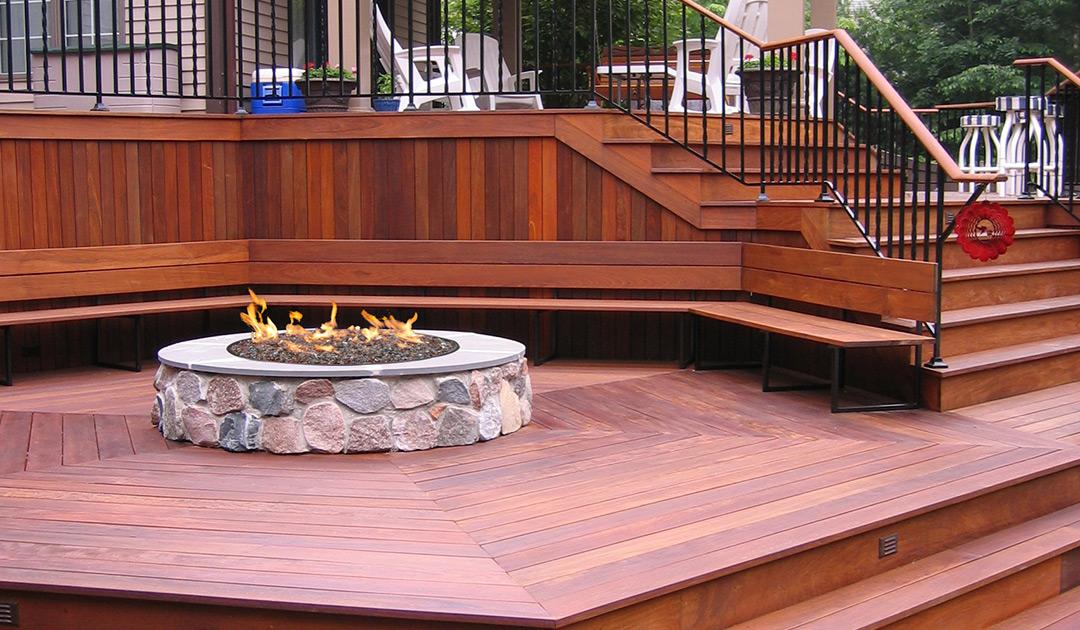 Prosper, Texas Outdoor Living Space Wooden Deck